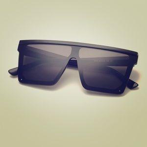 SHEIN plain frame flat top sunglasses